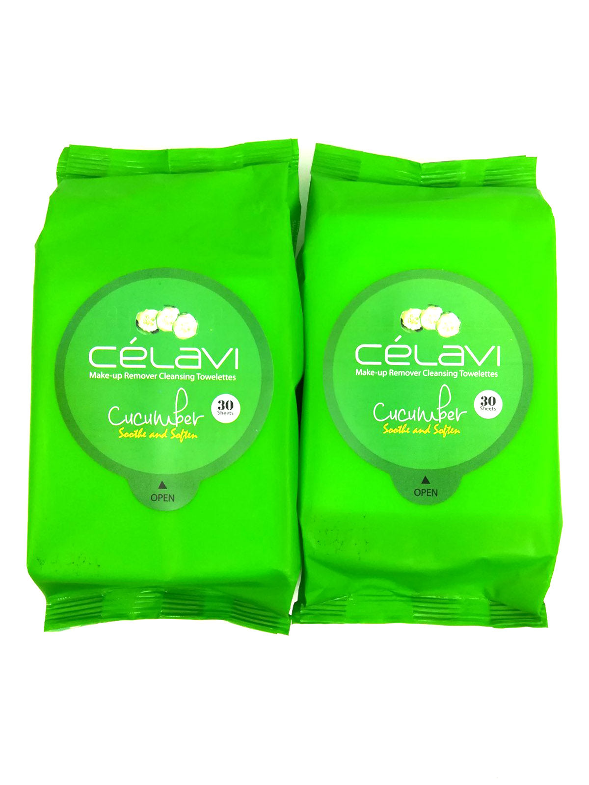 Makeup Remover Cleansing Wipes Removing Towelettes 2 Packs - 60 Sheets