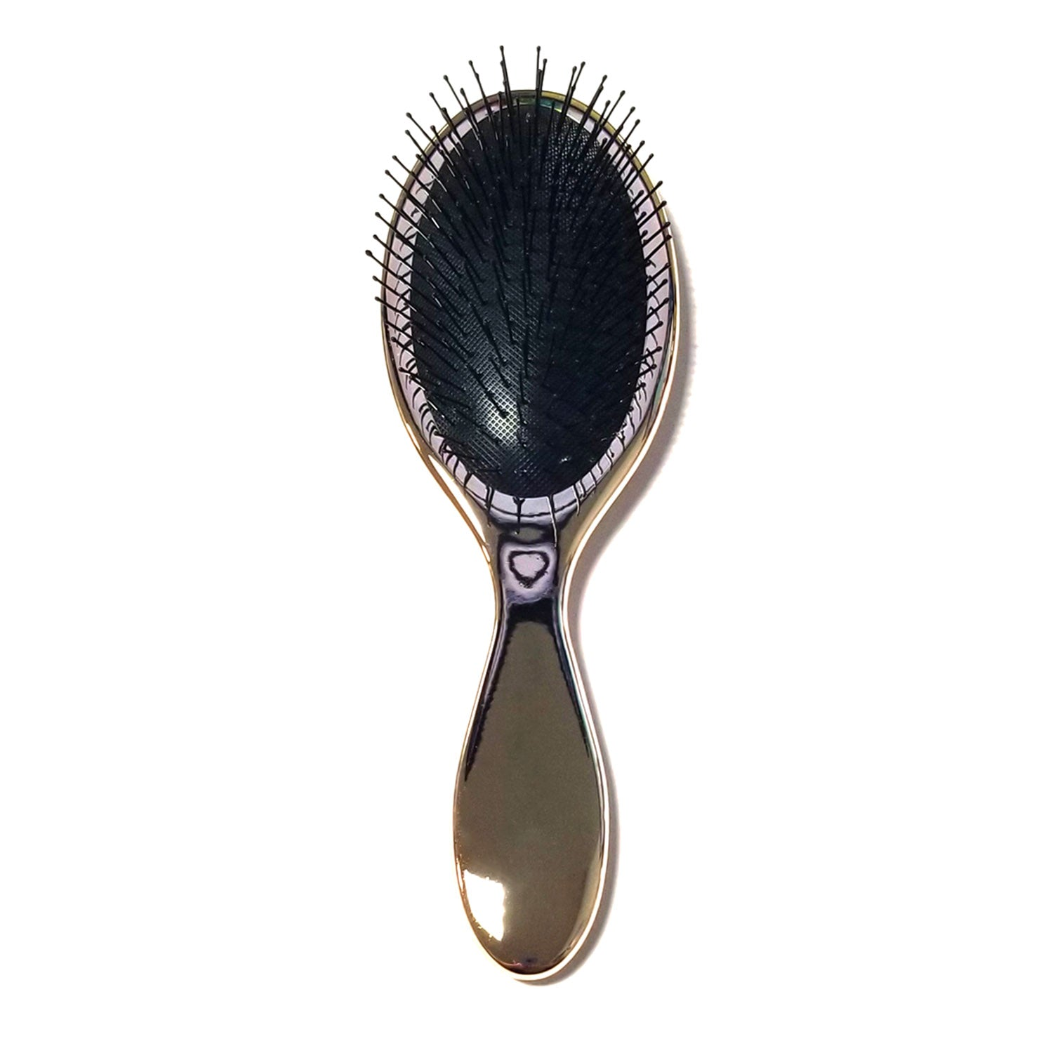 Celavi Professional Metallic Chrome Oval Paddle Brush (Available in Bronze, Silver and Lilac)