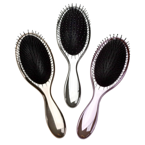 Celavi Mini Oval Neon Hairbrush (Sunset, Full Moon, Venus in Love, Green Earth, Blue Sky & Violet)