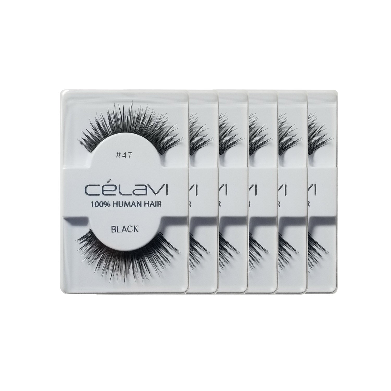 Celavi Human Eyelashes Pack of 6