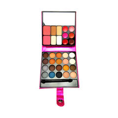 Celavi Compact Makeup Palette Complete Color Collection 32 Shades (Face, Eyes & Lips)