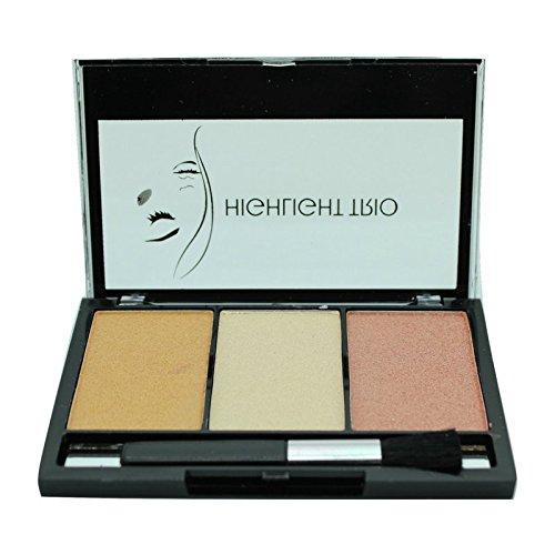 Celavi Trio Face Palette w/ Brush Applicator and Built in Mirror-Beauty-Celavi Cosmetics-Highlight-Celavi Cosmetics