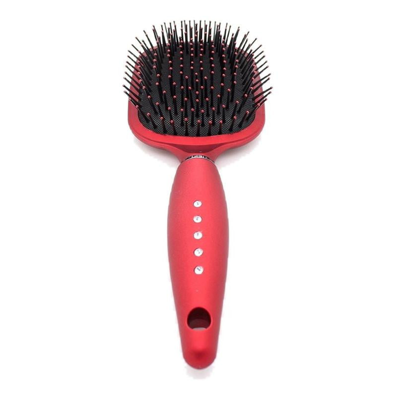 Diamond Cushion Handle Professional Salon Hair Brush Bristles-Beauty-Celavi Cosmetics-Celavi Cosmetics