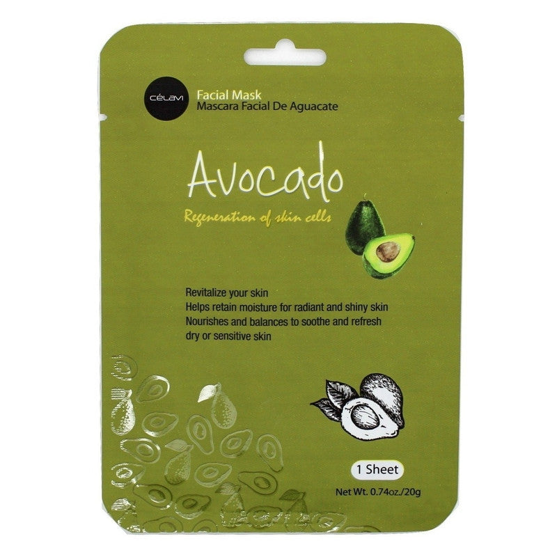 Essence Facial Mask Paper Sheet Moisturizing Skin Care-Beauty-Celavi Cosmetics-Avocado-12-Celavi Cosmetics