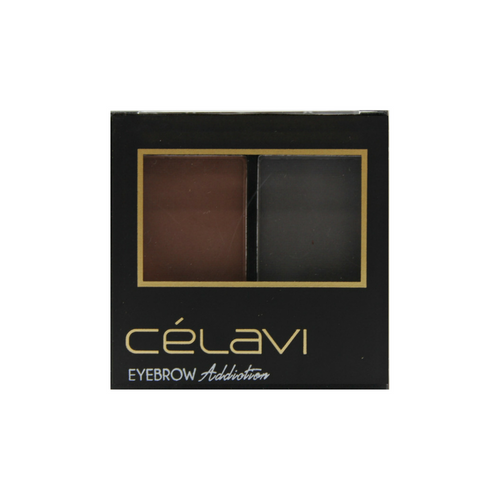 Eye Shadow Dual Color Mini Palette w/ Tweezer, Angled Brow Brush and Stencils-Beauty-Celavi Cosmetics-Celavi Cosmetics