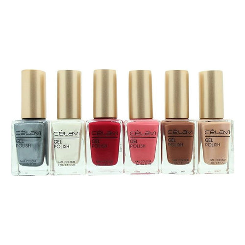 Gel Nail Polish Lacquer 6 Piece Collection Set-Beauty-Celavi Cosmetics-Celavi Cosmetics