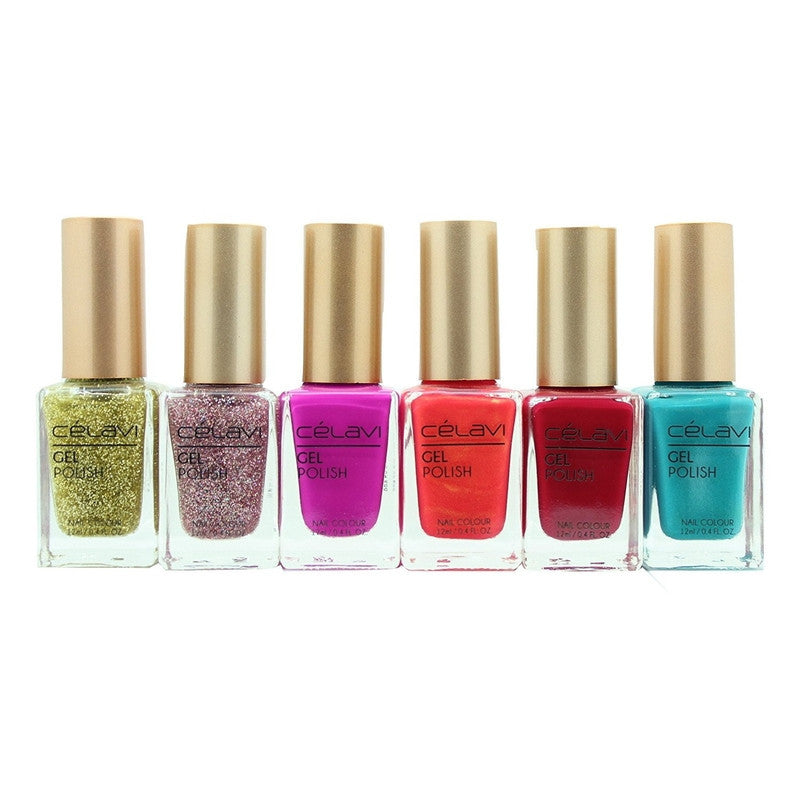 Gel Nail Polish Lacquer 6 Piece Collection Set-Beauty-Celavi Cosmetics-About Last Night-Celavi Cosmetics