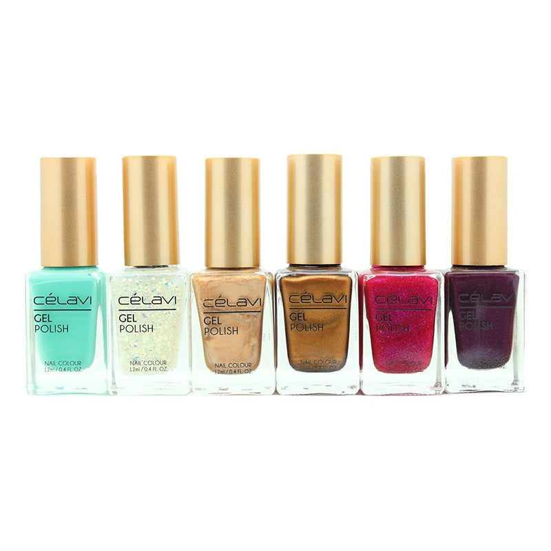 Gel Nail Polish Lacquer 6 Piece Collection Set-Beauty-Celavi Cosmetics-Breakfast@-Celavi Cosmetics