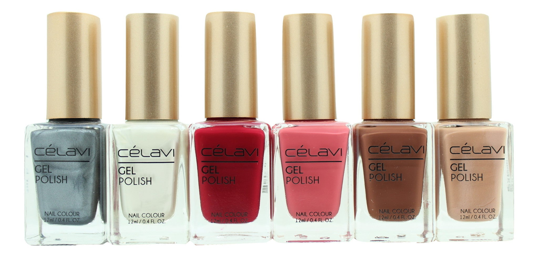 Gel Nail Polish Lacquer 6 Piece Collection Set-Beauty-Celavi Cosmetics-Elegant Fall-Celavi Cosmetics