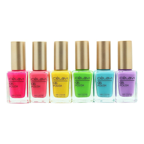 Gel Nail Polish Lacquer 6 Piece Collection Set-Beauty-Celavi Cosmetics-Forever Summer-Celavi Cosmetics