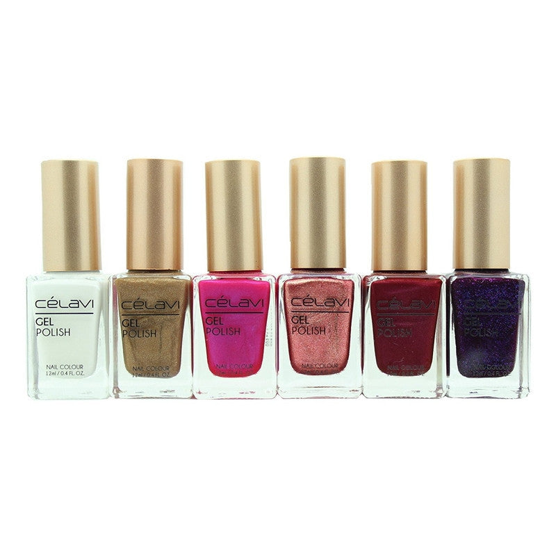 Gel Nail Polish Lacquer 6 Piece Collection Set-Beauty-Celavi Cosmetics-Modern Dash-Celavi Cosmetics