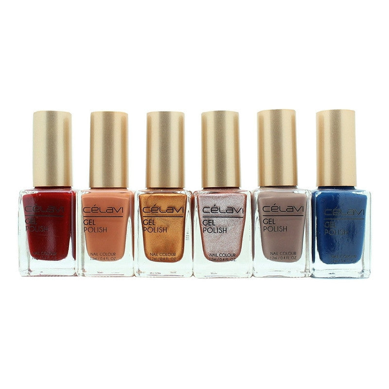 Gel Nail Polish Lacquer 6 Piece Collection Set-Beauty-Celavi Cosmetics-Oh So Chic-Celavi Cosmetics