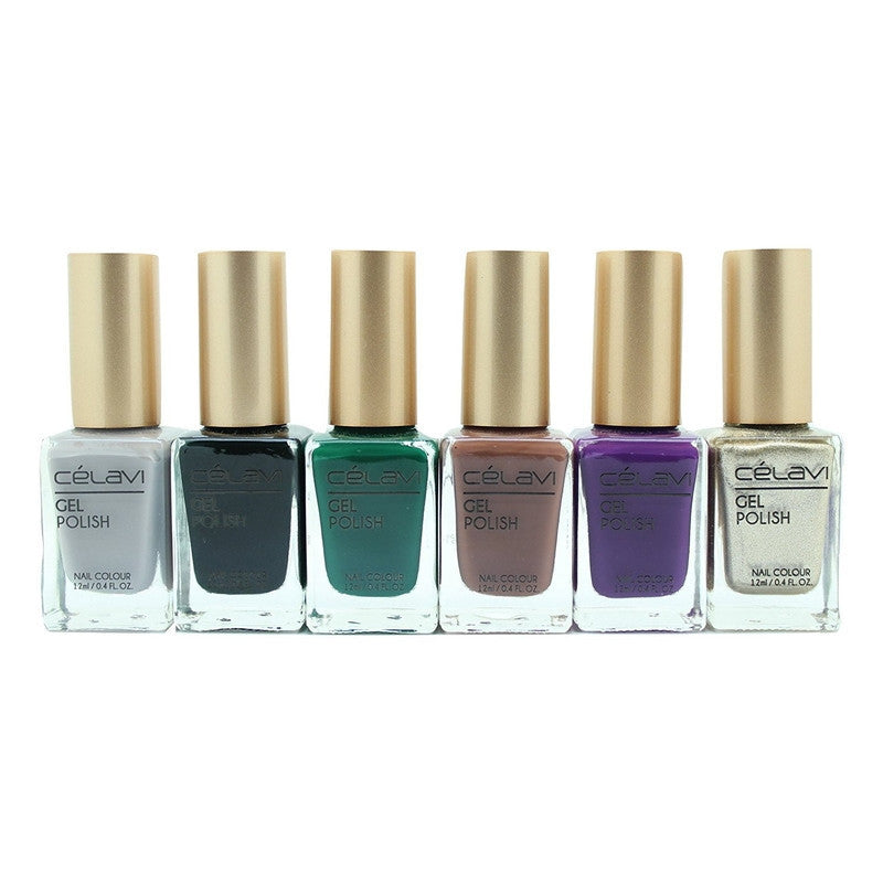 Gel Nail Polish Lacquer 6 Piece Collection Set-Beauty-Celavi Cosmetics-Under the Sea-Celavi Cosmetics