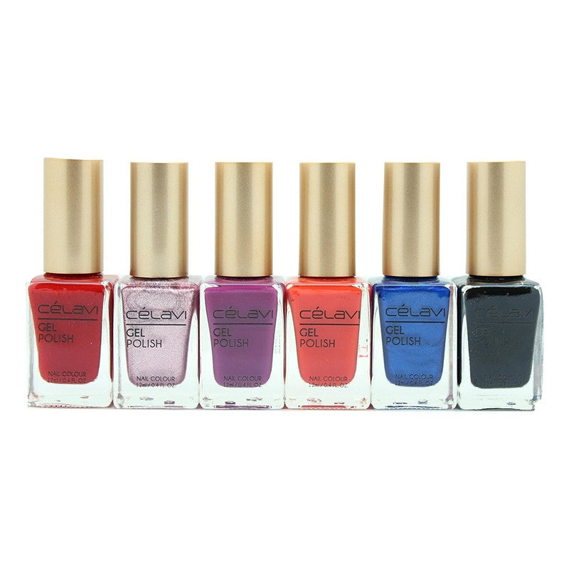 Gel Nail Polish Lacquer 6 Piece Collection Set-Beauty-Celavi Cosmetics-Voguish-Celavi Cosmetics
