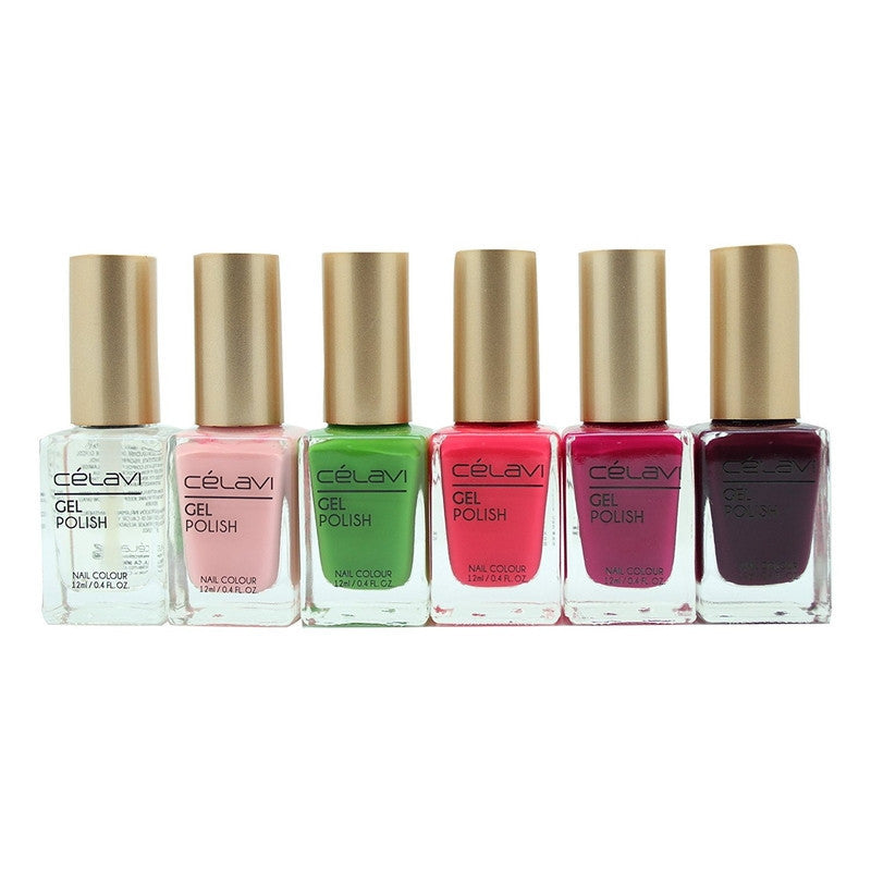 Gel Nail Polish Lacquer 6 Piece Collection Set-Beauty-Celavi Cosmetics-Wild Berries-Celavi Cosmetics