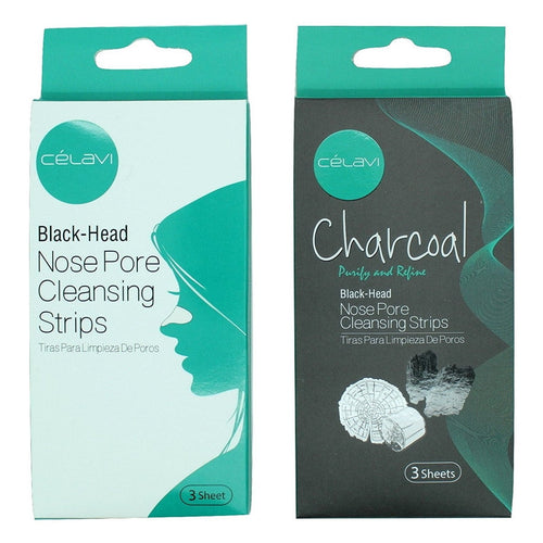 Nose Pore Cleansing Strips Charcoal & Original Packs 6 Strips Total-Beauty-Celavi Cosmetics-Celavi Cosmetics