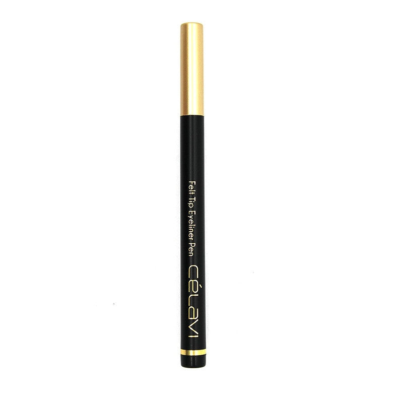 Waterproof Precision Liquid Felt Tip Eyeliner Pen, Black, .08 oz-Beauty-Celavi Cosmetics-Celavi Cosmetics