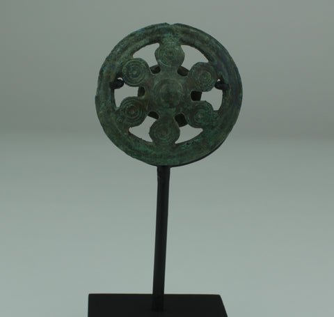 SUPERB CELTIC BRONZE STRAP JUNCTION - CIRCA 50BC