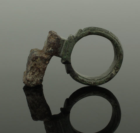 SUPER QUALITY ANCIENT ROMAN BRONZE RING KEY 2ND CENTURY AD 017