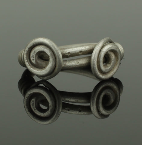 ANCIENT VIKING DOUBLE SPIRAL SILVER RING - CIRCA 9th/10th CENTURY