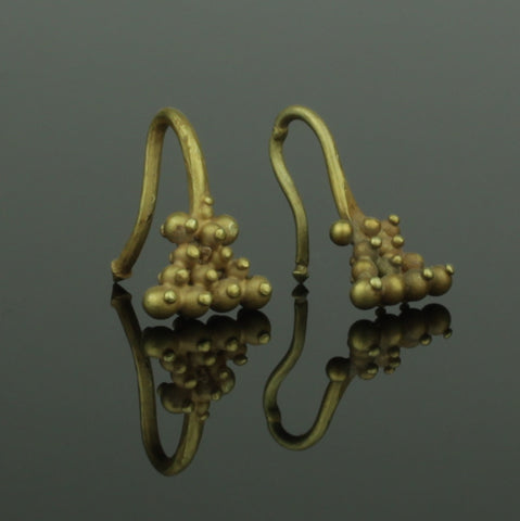 BEAUTIFUL ANCIENT ROMAN GOLD EARRINGS - CIRCA - 2nd Century AD (091)