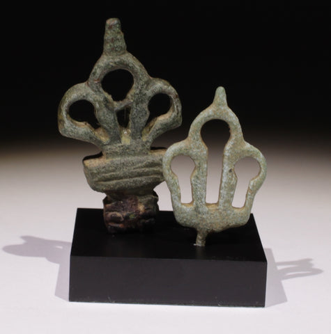 ANCIENT ROMAN BRONZE HEY HANDLES - CIRCA 2nd Century AD