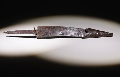 MEDIEVAL IRON DAGGER WITH CHAPE - 9th/12th Century AD (089)