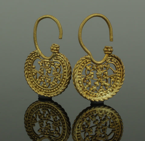 FABULOUS ANCIENT BYZANTINE GOLD EARRINGS - CIRCA - 6th/7th Century AD (723)