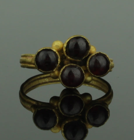 BEAUTIFUL ANCIENT ROMAN GOLD & GARNET RING - 1st/2nd Century AD (280)
