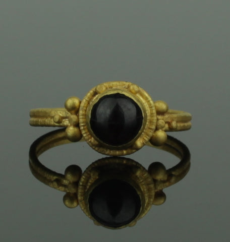 BEAUTIFUL ANCIENT ROMAN GOLD & GARNET RING - 2nd/3rd Century AD (233)