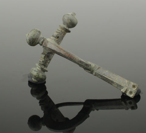 ANCIENT ROMAN BRONZE CROSSBOW BROOCH - CIRCA 4th CENTURY AD (03)