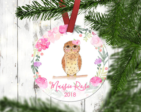 Owl Children's Christmas Ornament