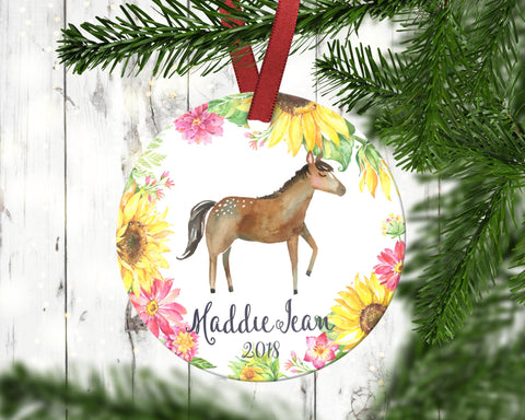 Children's Horse Christmas Ornament