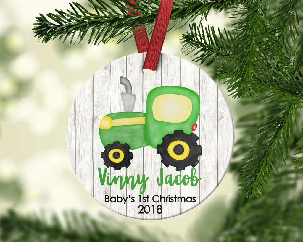 Baby's First Christmas Tractor Christmas Ornament