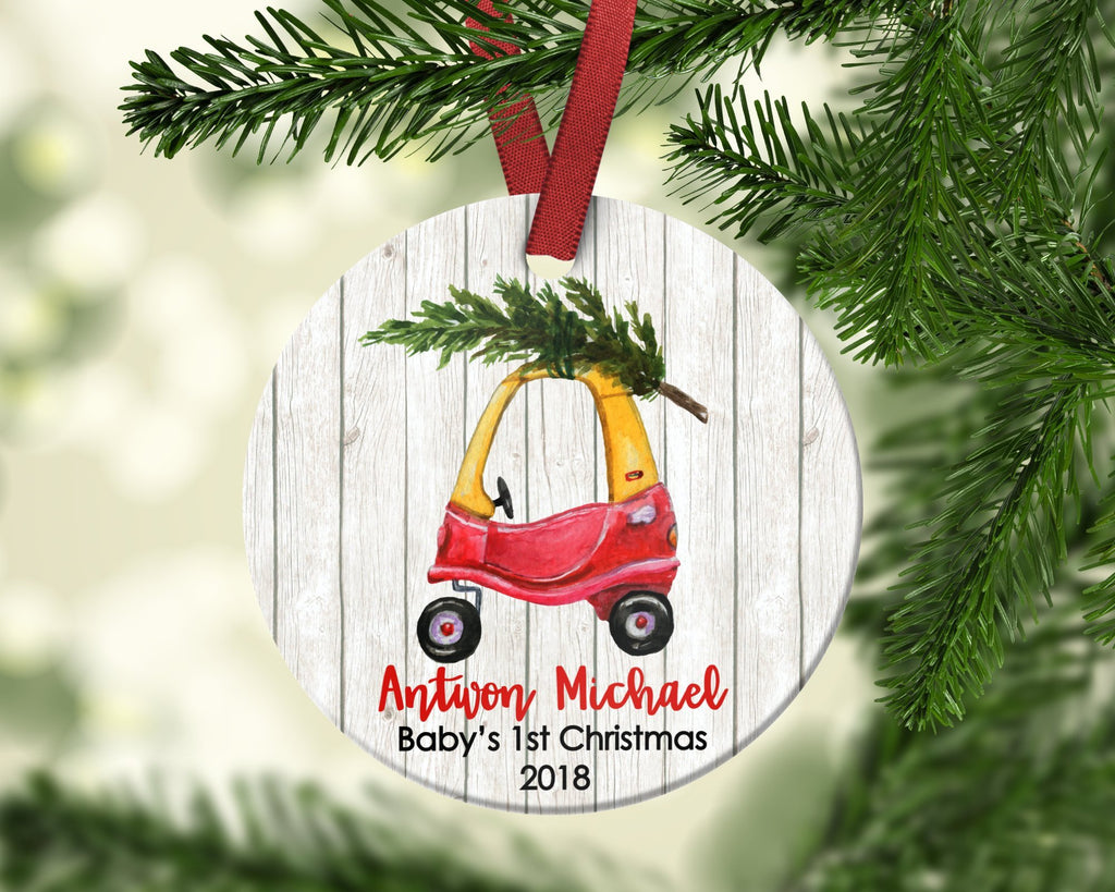 Little Tykes Cozy Coupe baby's first christmas ornament