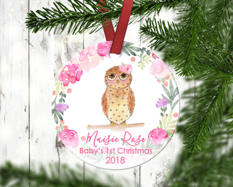 Owl Baby's First Christmas Ornament