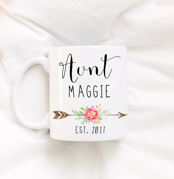 Personalized Aunt Coffee Mug