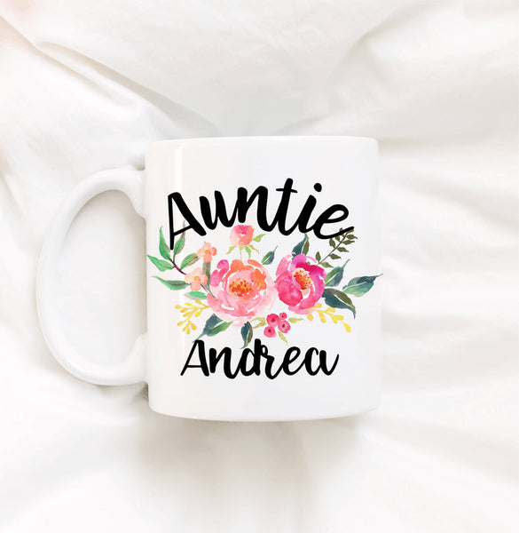 Personalized Auntie Coffee Mug