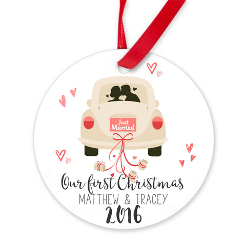 Our first Christmas Ornament. Personalized