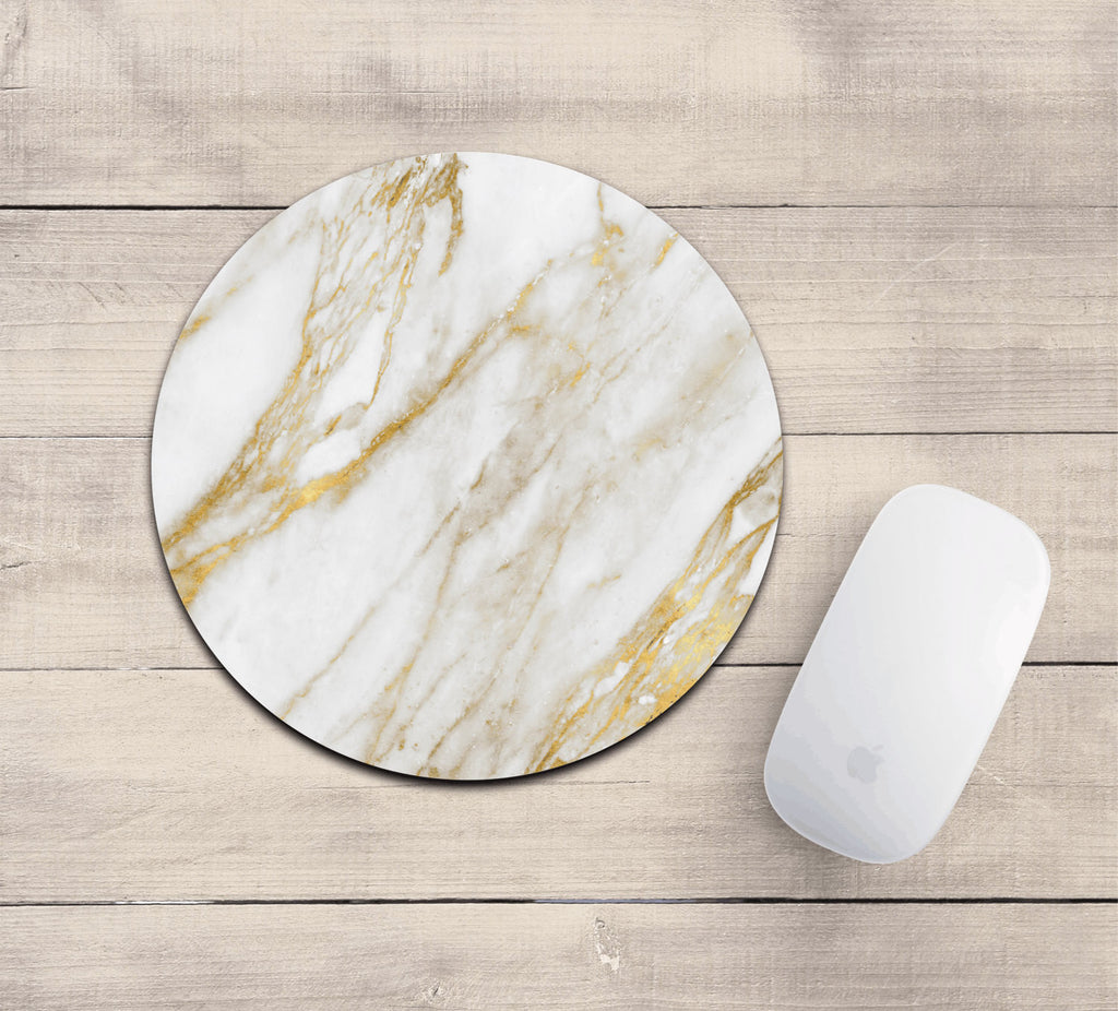 Gold marble mousepad