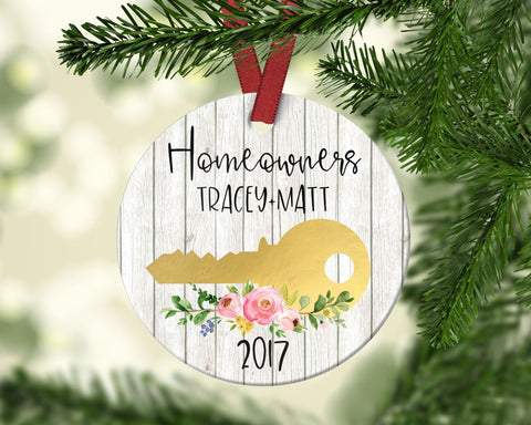 Homeowner Christmas Ornament. Personalized