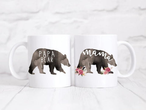 Mama/Papa Bear Coffee Mug Set
