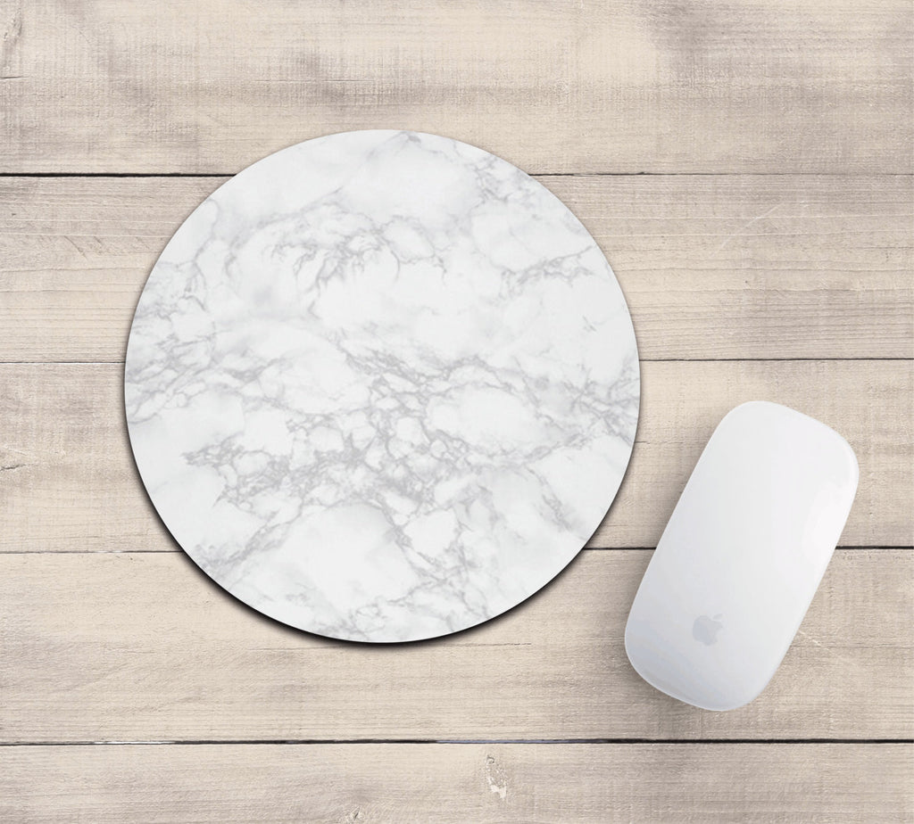 White marble mousepad