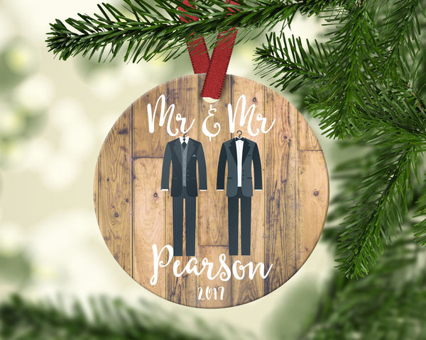 Mr. & Mr. Christmas Ornament. Personalized