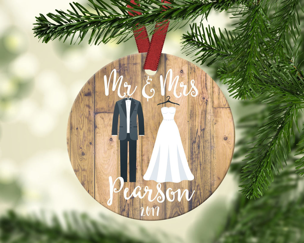 Mr & Mrs Christmas Ornament. Personalized
