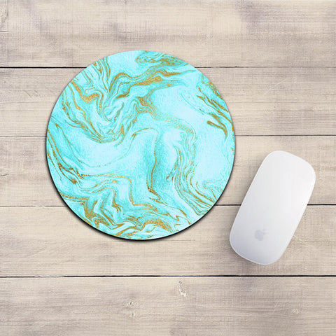 Teal Marble Mousepad
