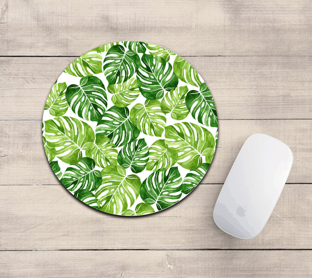 Super cute banana leaf mousepad