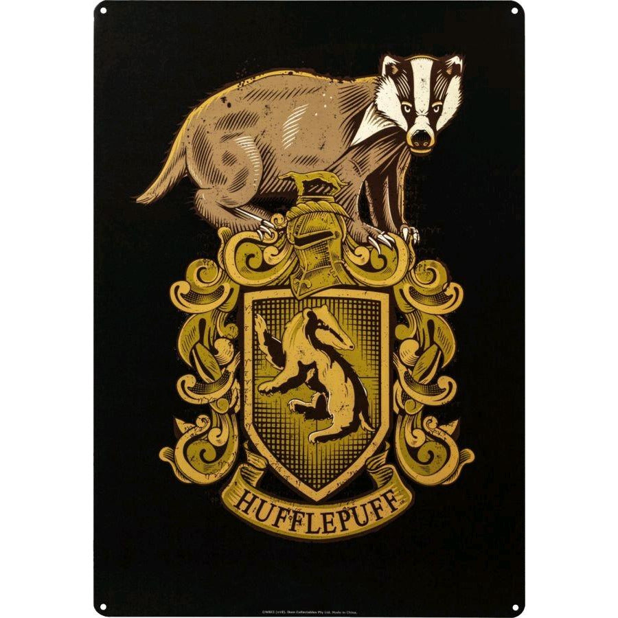 Harry Potter - Hufflepuff A3 Tin Sign