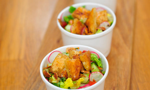 Fattoush w/ little gem, cherry tomatoes, radish & cucumber (BOWL)