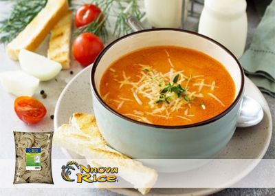 Tomato soup with Gluten Free vermicelli noodles